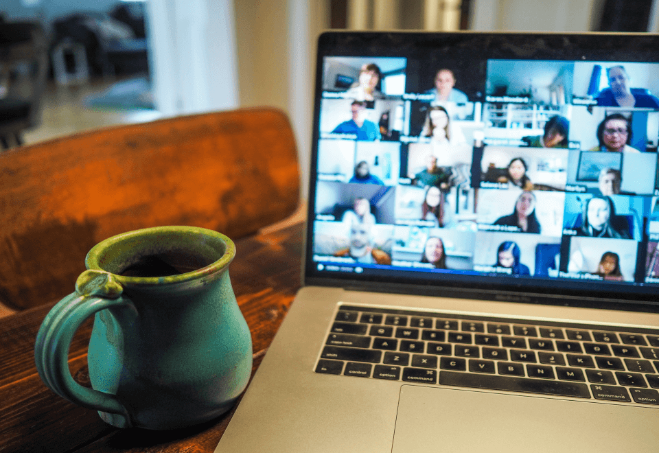 Business communication remotely via video